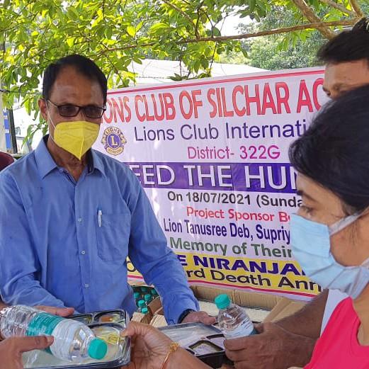 Food distributed at Silchar Civil Hospital