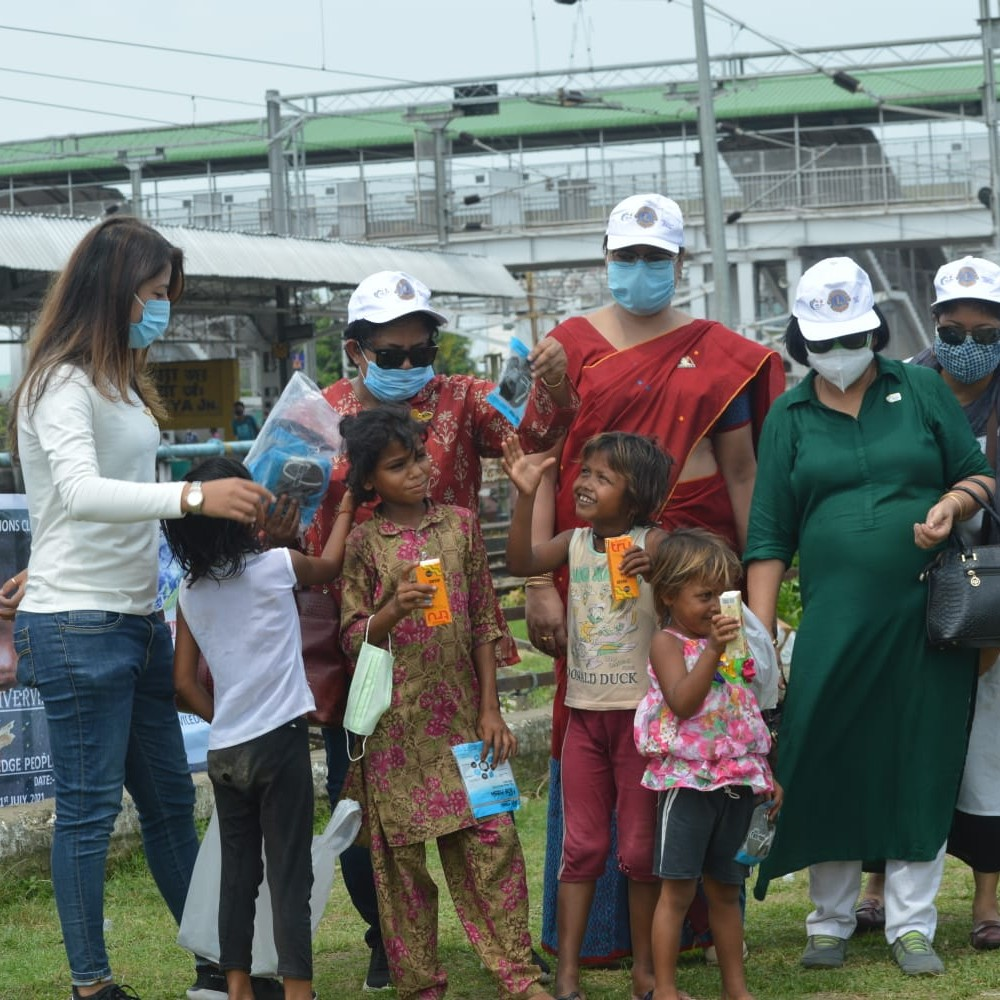 Distribution of mask and sanitizer