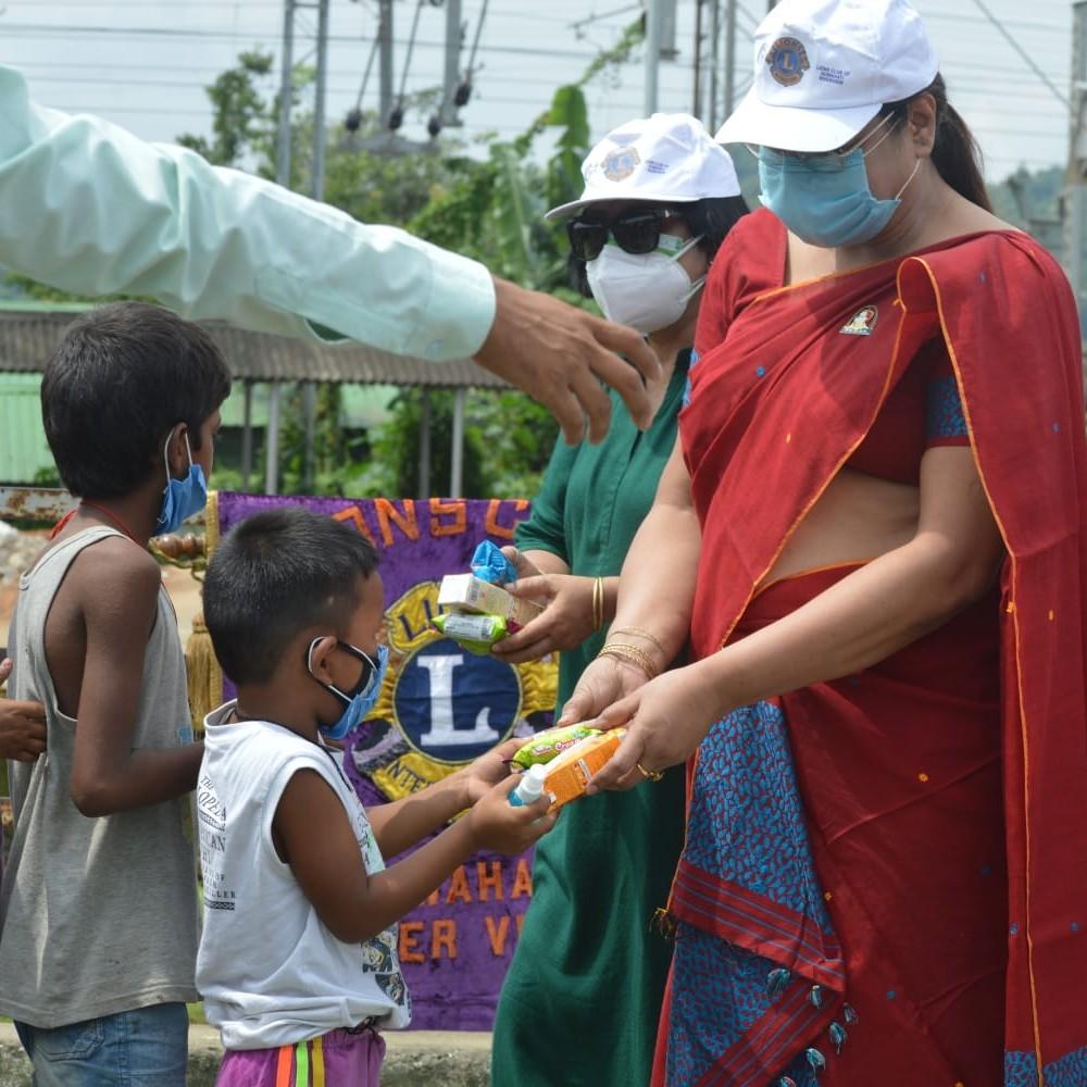 Distribution of food items