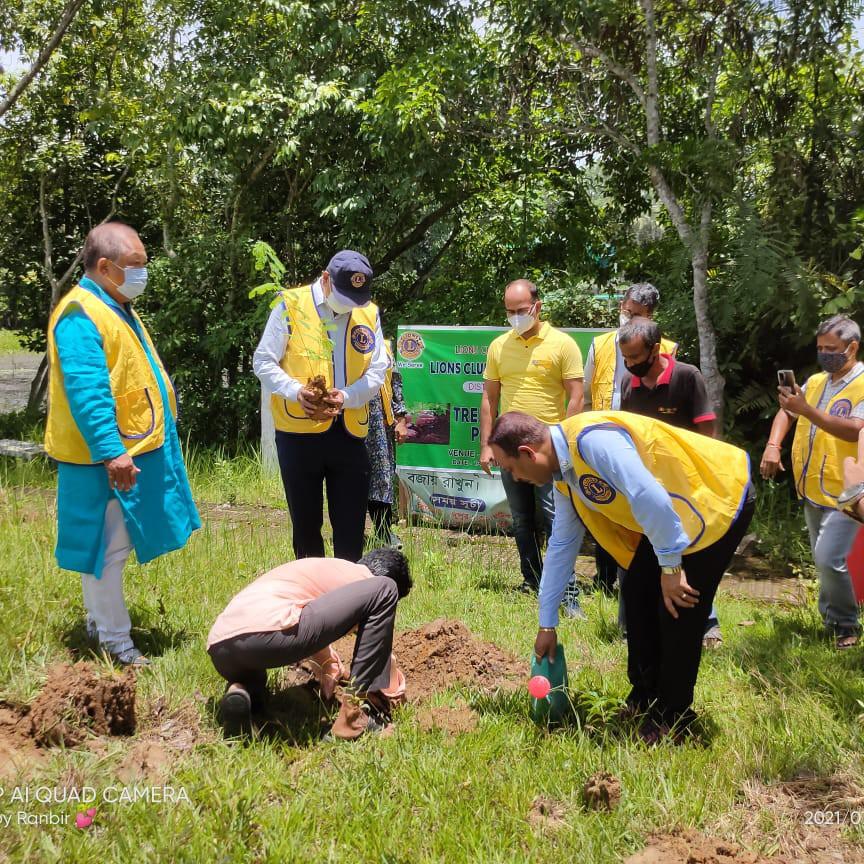 Tree Plantation of  Lions Club of Dharmanagar