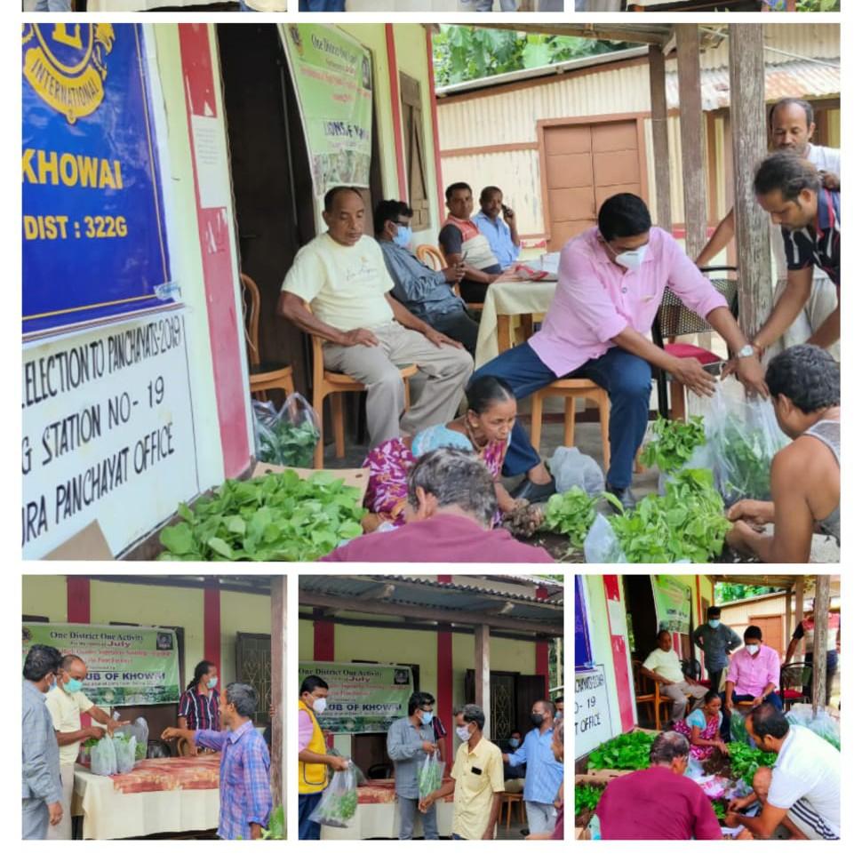 Distribution of high quality vegetables saplings among the poor Farmers.