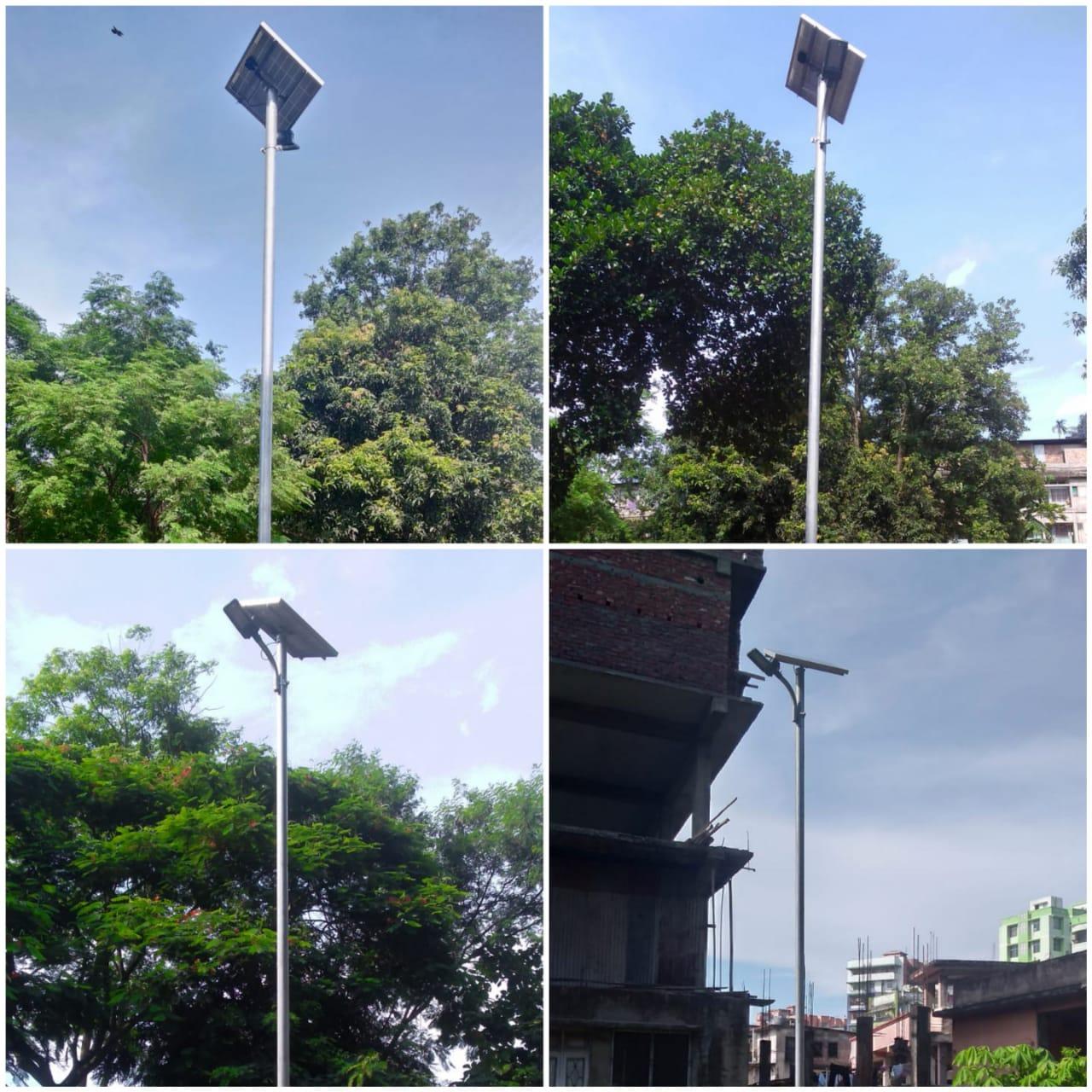 Installation of solar street light at Chenikuthi Cemetry under