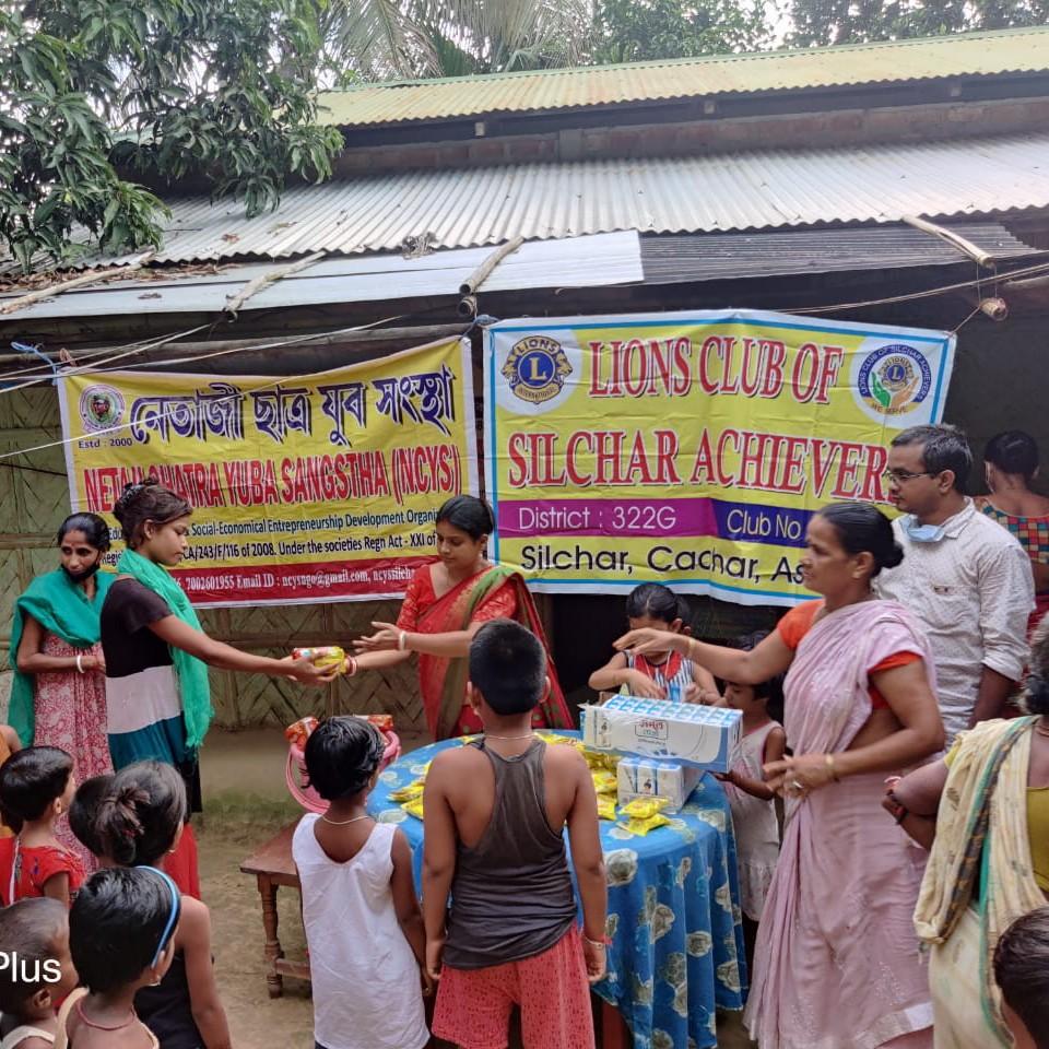 Nutritious food distribution among the children at Uttar Krishnapur , Durgapally