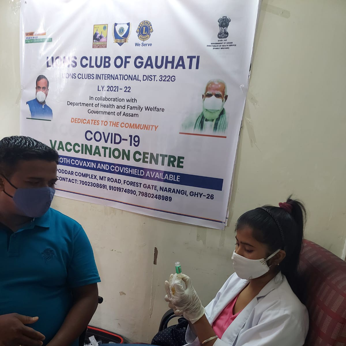 Free vaccination camp drive day 8