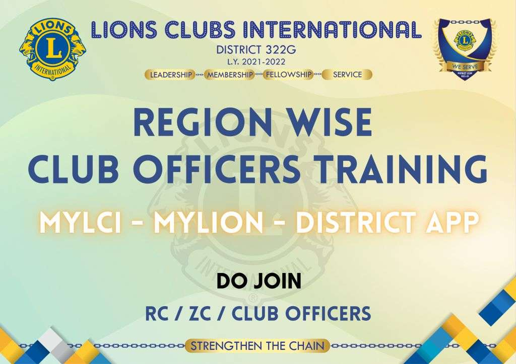 Region Wise Officer Training for MyLCI, MyLION and District APP
